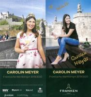 Autogrammkarte der Fränkischen Weinkönigin Carolin Meyer