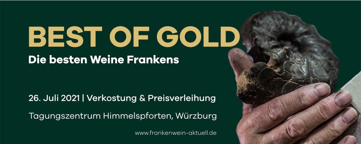 best of Gold- die zehn besten Weine Frankens im Jahr 2021